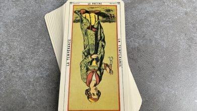 Tarot égyptien - le Prêtre - la Tempérance (carte renversée n°10)