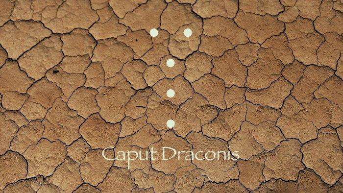geomancie caput draconis / tête de dragon