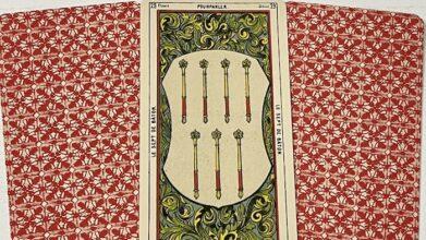7 de baton tarot égyptien