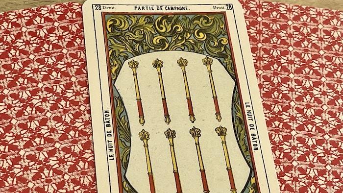 8 de bâton tarot égyptien