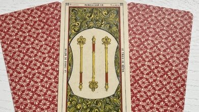 3 de Baton tarot égyptien