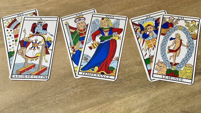 tarot de marseille associations de cartes