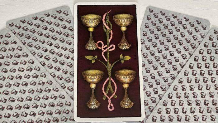 4 de Coupe - arcane mineur - tarot de Marseille - Pole Ka