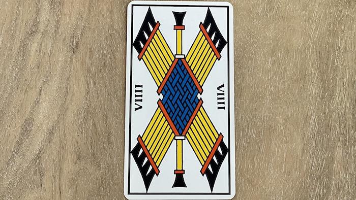 9 de Bâtons - arcane mineur - tarot de Marseille