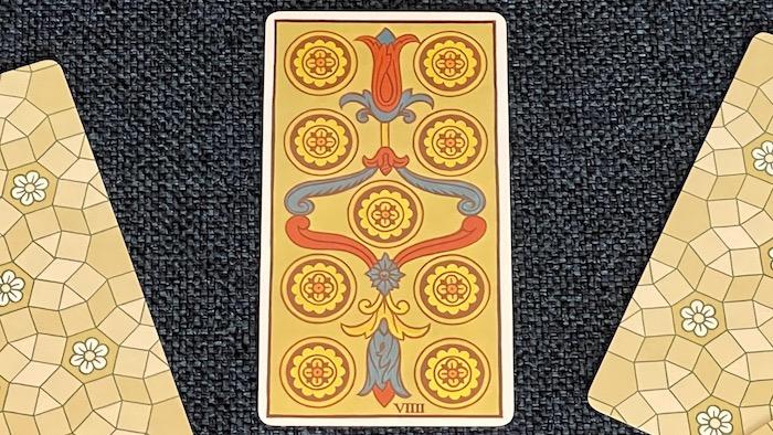 9 de Deniers - arcane mineur - tarot de Marseille - Fournier
