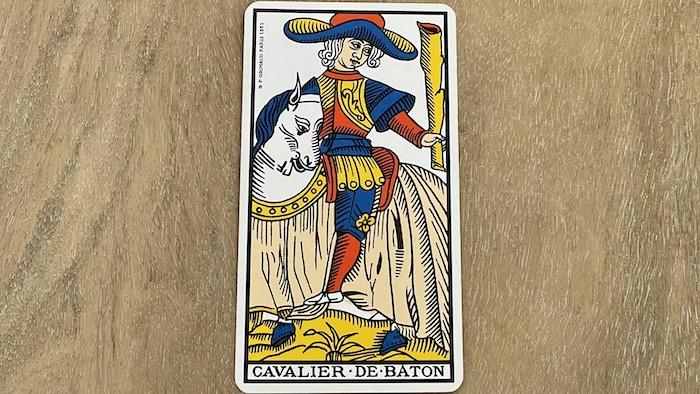Cavalier de Bâtons - arcane mineur - tarot de Marseille - Grimaud
