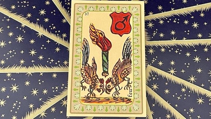 Feu - carte n°37 - Oracle Belline