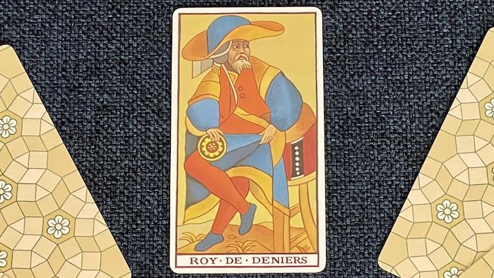 Roi de Deniers - arcane mineur - tarot de Marseille - Fournier