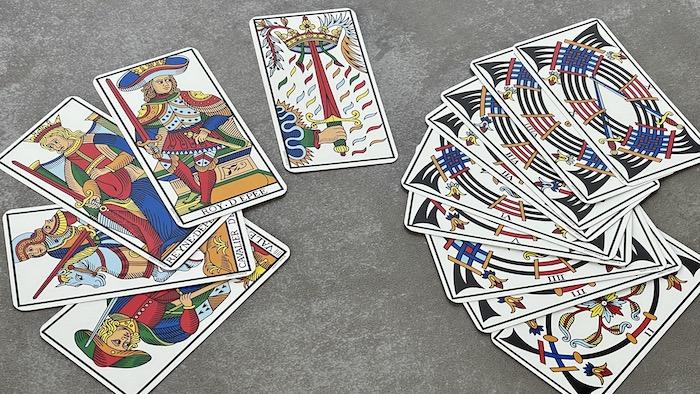 carte épées tarot de marseille