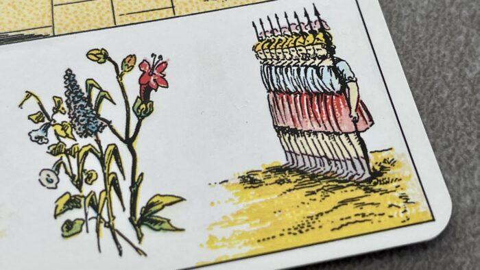 Tarots Valet de Carreau grand Lenormand